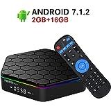 2018 Model Android 7.1 TV Box,T95Z Plus Android TV Box Amlogic S912 Octa Core 2GB RAM 16GB ROM Support Dual WiFi 2.4G/5GHz Ethernet 1000M LAN 64-Bit H.265 Bluetooth 4.0 True 4K 3D Mini PC TV Boxes