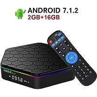 2018 Model Android 7.1 TV Box,Z Plus Android TV Box Amlogic S912 Octa Core 2GB RAM 16GB ROM Support Dual WiFi 2.4G/5GHz Ethernet 1000M LAN 64-Bit H.265 Bluetooth 4.0 True 4K 3D Mini PC TV Boxes