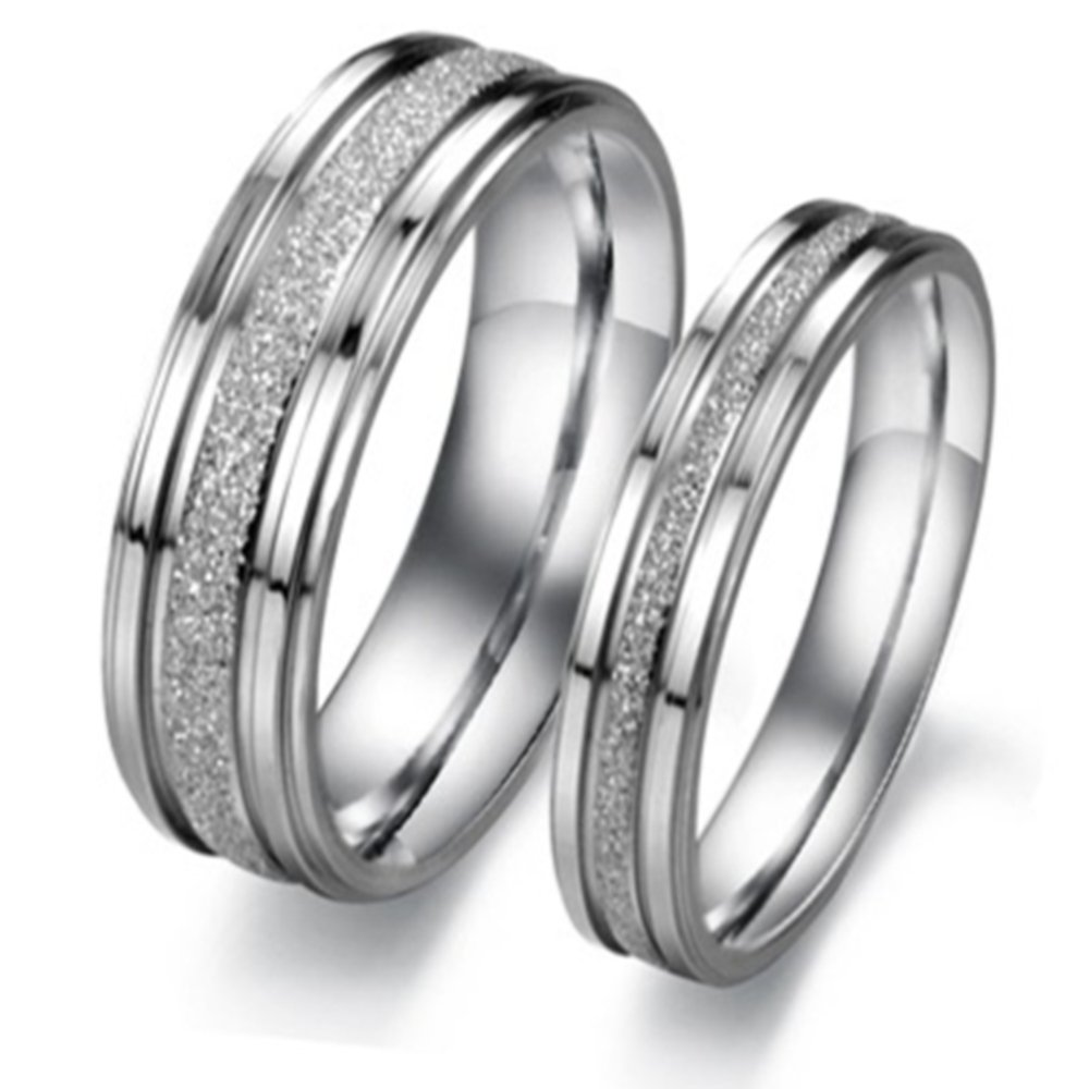 fashion couple titanium black rings ring steel band minimalist ti katgi tungsten bands com