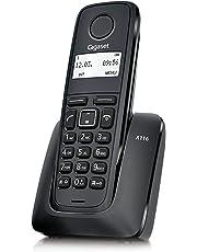 """Teléfono inalámbrico Gigaset, Agenda hasta 50 contactos (Nombre y número), identificación de Llamada entrante, Pantalla gráfica 1.4"""", Lista 25 Llamadas perdidas, Gran autonomia. A116."""