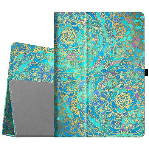 Fintie iPad Pro 12.9 Case - [Corner Protection] Premium PU Leather Folio Smart Stand Cover with Auto Sleep/Wake, Multi-Angle Viewing for iPad Pro 12.9 2nd Gen 2017 / 1st Gen 2015, Shades of Blue