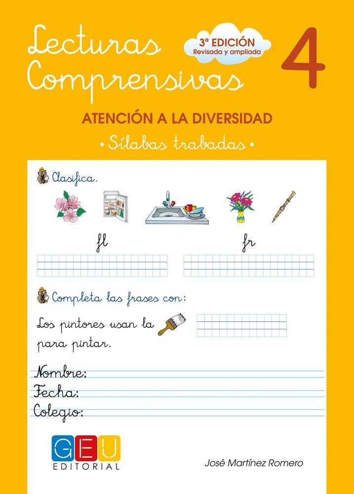 Lecturas comprensivas 4 - Sílabas Trabadas Tapa blanda – 15 abr 2010 José Martínez Romero Editorial GEU 8499151353 1775888