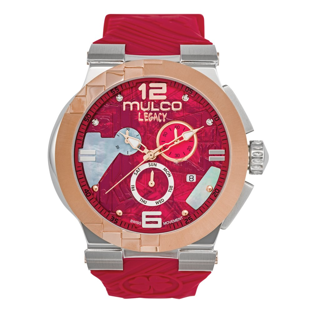 Mulco MW5-3547-063 Legacy Cubism Swiss Chronograph Red Watch by MULCO