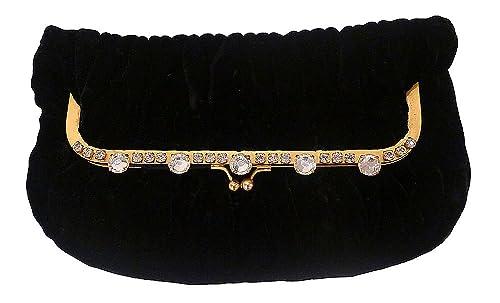 a387d719cf5 Miu Miu Black Velvet Rhinestone Clutch Bag  Amazon.ca  Shoes   Handbags