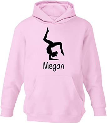 PERSONALISED LADIES FITTED HOODIE GYMNASTICS HAND STAND DANCE GIRLS GIFT JUMPER