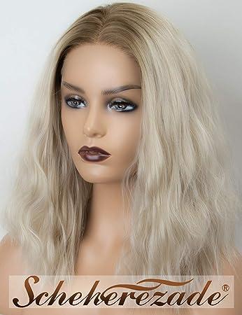 Amazon Com Scheherezade Short Bob Light Ash Blonde Ombre Lace