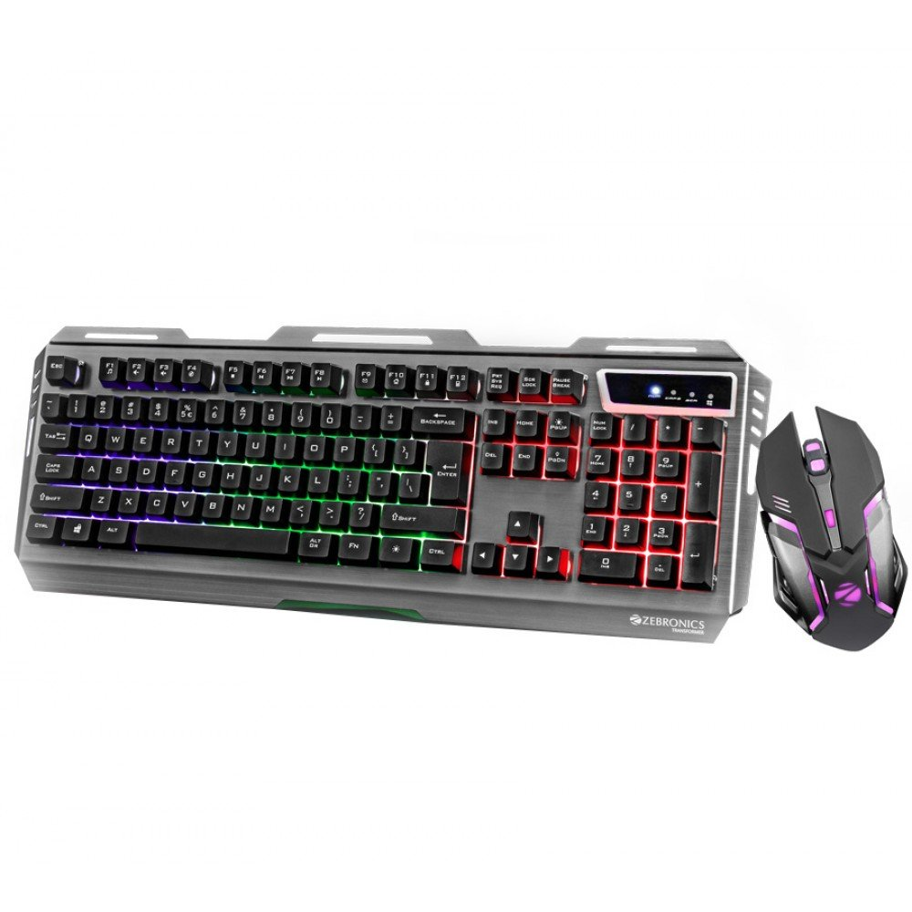 ZEBRONICS Gaming Multimedia USB Keyboard & USB Mouse Combo -Transformer