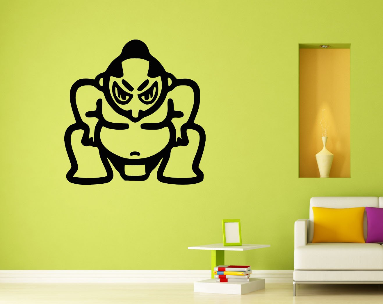 Sumo Wrestler Wall Decal Vinyl Sticker Wall Decor Removable Decal ...