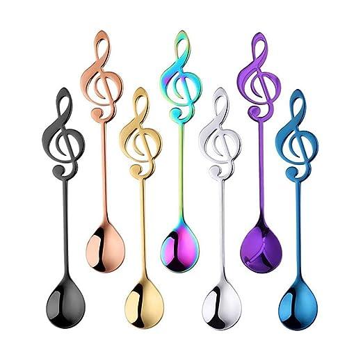 Roebii Símbolo Musical Cuchara De Café, 4 Piezas De Cucharas De ...