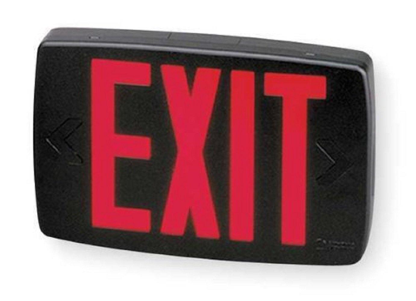 Lithonia Lighting LQM S 3 R 120/277 EL N M6 Quantum Thermoplastic LED Emergency Exit Sign