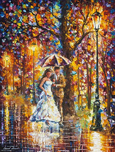 Couple Wall Art Anniversary Oil Painting On Canvas By Leonid Afremov - Dream Wedding ()