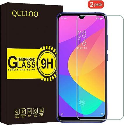 QULLOO Protector de Pantalla Xiaomi Mi A3, Cristal Templado [9H ...