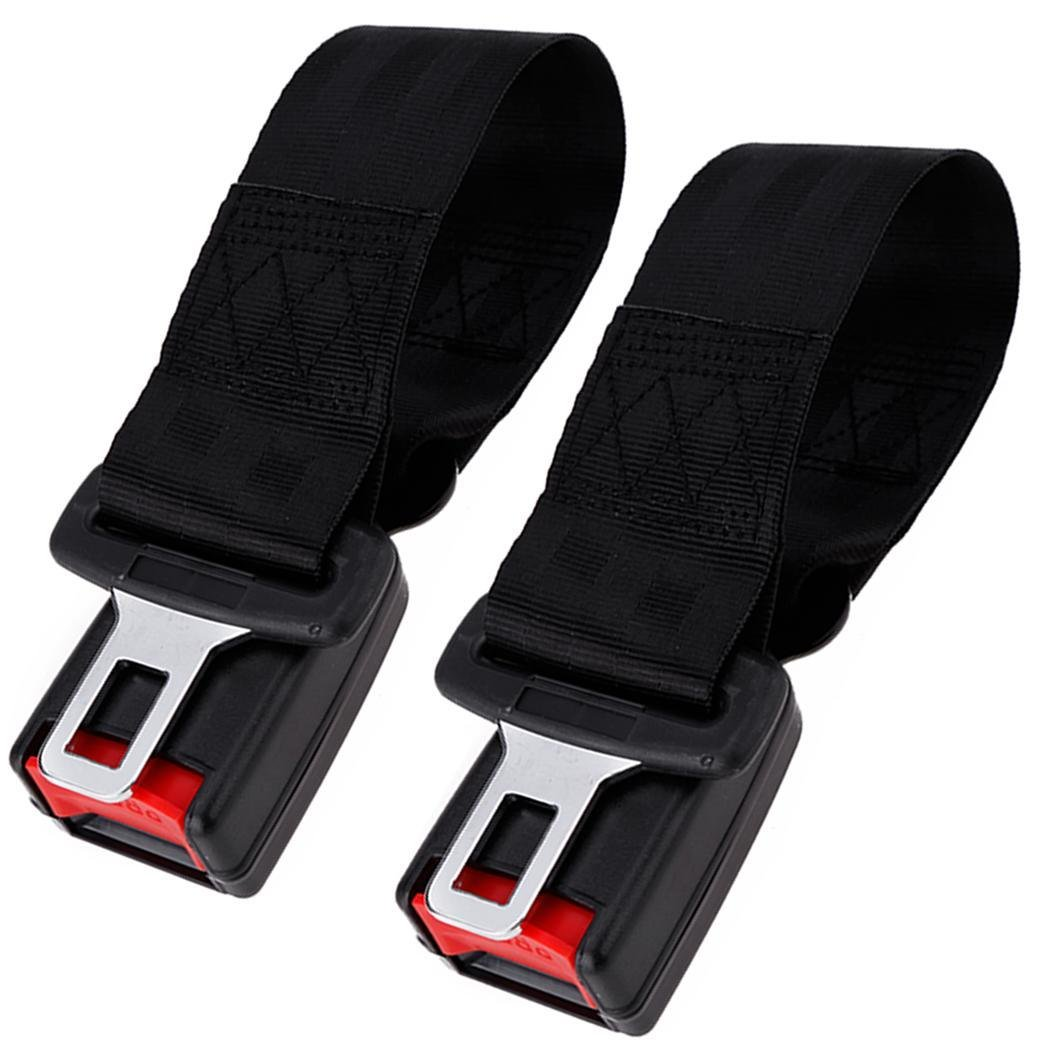 Oguine New Universal 2pcs Car Seat Seatbelt Safety Extend Belt with Buckle