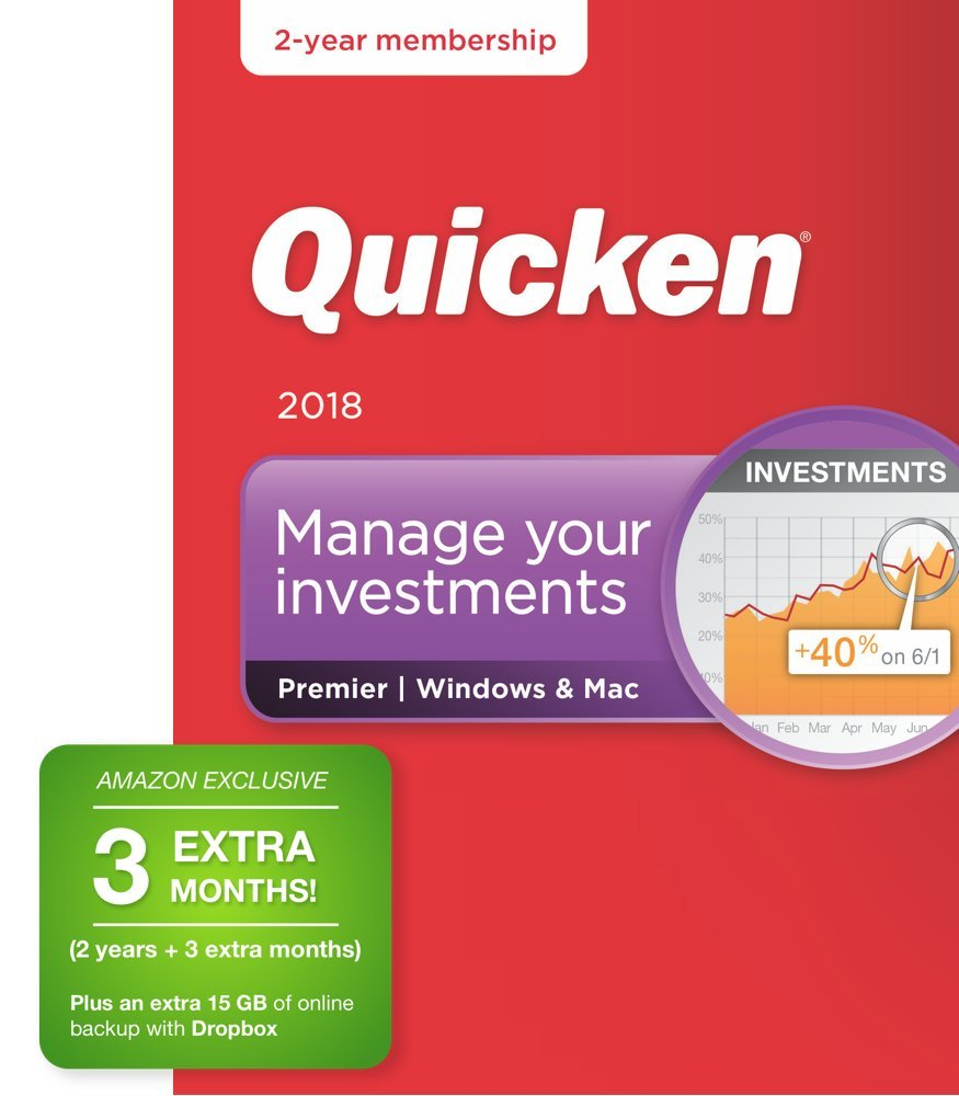 Quicken Premier 2018 – 27-Month Personal Finance & Budgeting Software [PC/Mac Box] – Amazon Exclusive