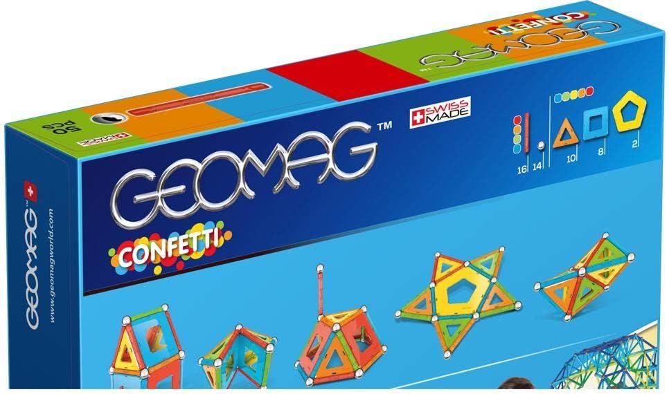 Geomag Confetti Construcciones magnéticas y juegos educativos, 50 piezas (352), Multicolor: Amazon.es: Juguetes y juegos