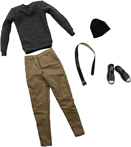 1//6 Knitted Men Casual Pants Trousers for 12inch Male Action Figures Body