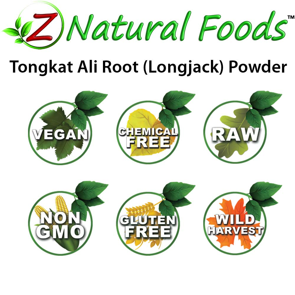 Tongkat Ali / Longjack Powder - 5 lb - Support Vitality & Stamina - Make Your Own Capsules Or Pills - Wildcrafted, Raw, 100% Pure, Vegan, Non GMO, & Gluten Free by Z Natural Foods