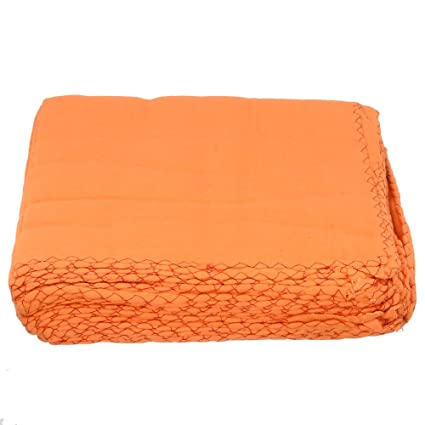 Aaditri 18 x 18 inch Wet & Dry Cotton Cleaning Cloth (Orange) - Pack of 12