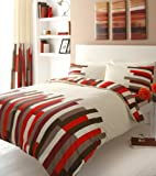 RED PRINTED KING SIZE DUVET COVER BED SET
