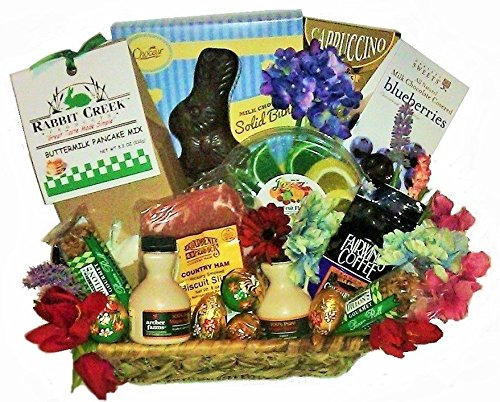 Easter Breakfast Gourmet Sweets Basket by Goldspan Gift Baskets