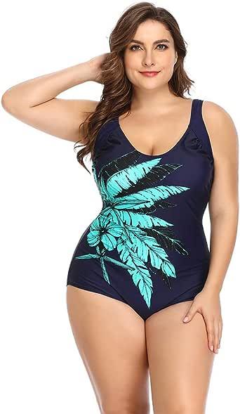 FUBA.VI Plus Size One Piece and Two Piece Swimsuit for Women Sponge Padded Swimwear Bathing Suits