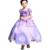 Little Girls Princess Sofia Costume Dress up Cosplay Fancy Party Dress