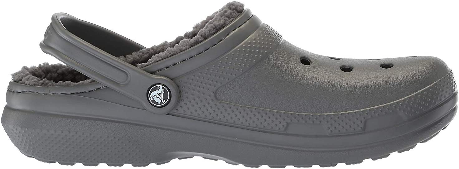 Crocs Classic gevoerde Clog voor volwassenen Grijze Grijze Rook 0Ex