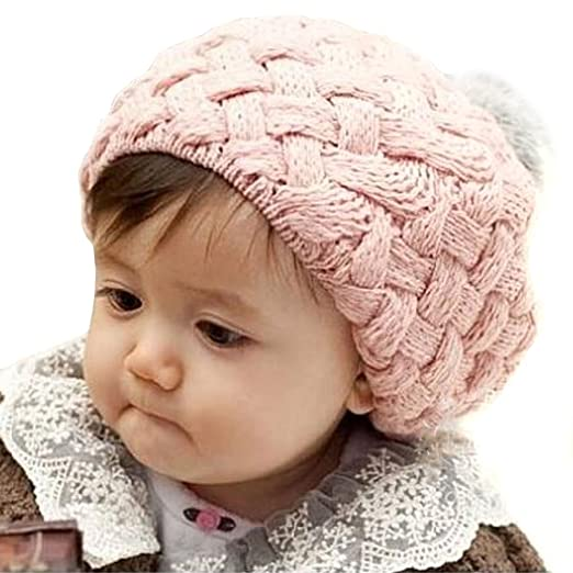 dd360ff6e91 Amazon.com  Bella s Fluffy Autum and Winter Beanie (Pink)  Baby Beanie Hats  For Girls  Clothing