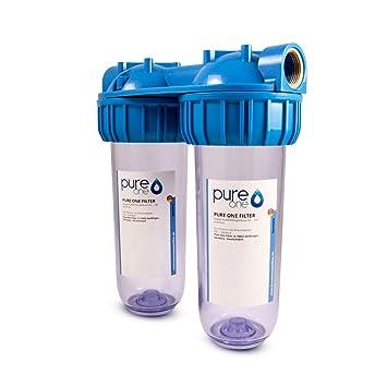 Turbo Hauswasserwerk Aussenfilter - Doppelfilter Leergehäuse LT38