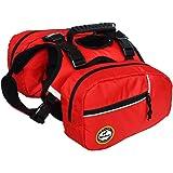 BlackDoggy Sac à dos réglable pour chien Type selle Pour la randonnée