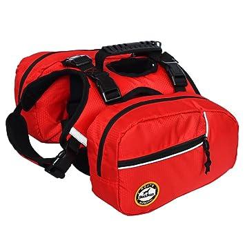 91b72e9722 BlackDoggy Sac à dos réglable pour chien avec sacoches,  idéal