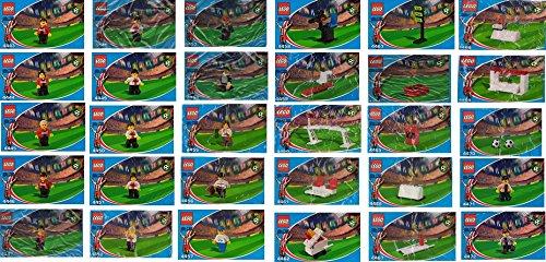 - Lego Coca Cola Soccer Promos Mini Figures 2002 World-cup Special Set
