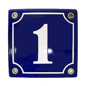 Hausnummer Hausnummernschild Emaille 10x15 cm mit Wunschnummer Premiumqualit/ät