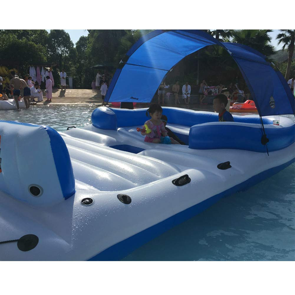 JANEFLY Piscina Bote Inflable 6-8 Personas Inflable Mar Deriva ...