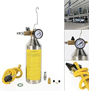 TFCFL Yellow Flush Fuel Injector Cleaner Kit Canister Adapter Pressure Gauge Tools