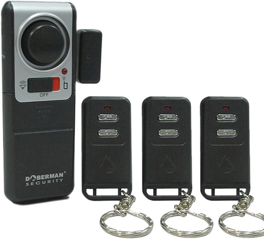 Alarma casa, WER alarma hogar magnética a distancia inalámbrico de seguridad para puertas y ventanas (3 controles remotos)