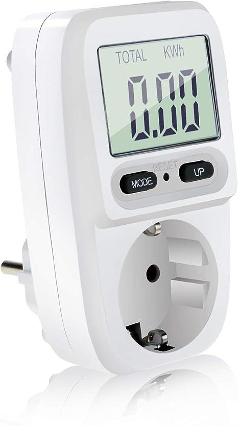 Medidor de consumo eléctrico contador corriente vatios enchufe wattios  España