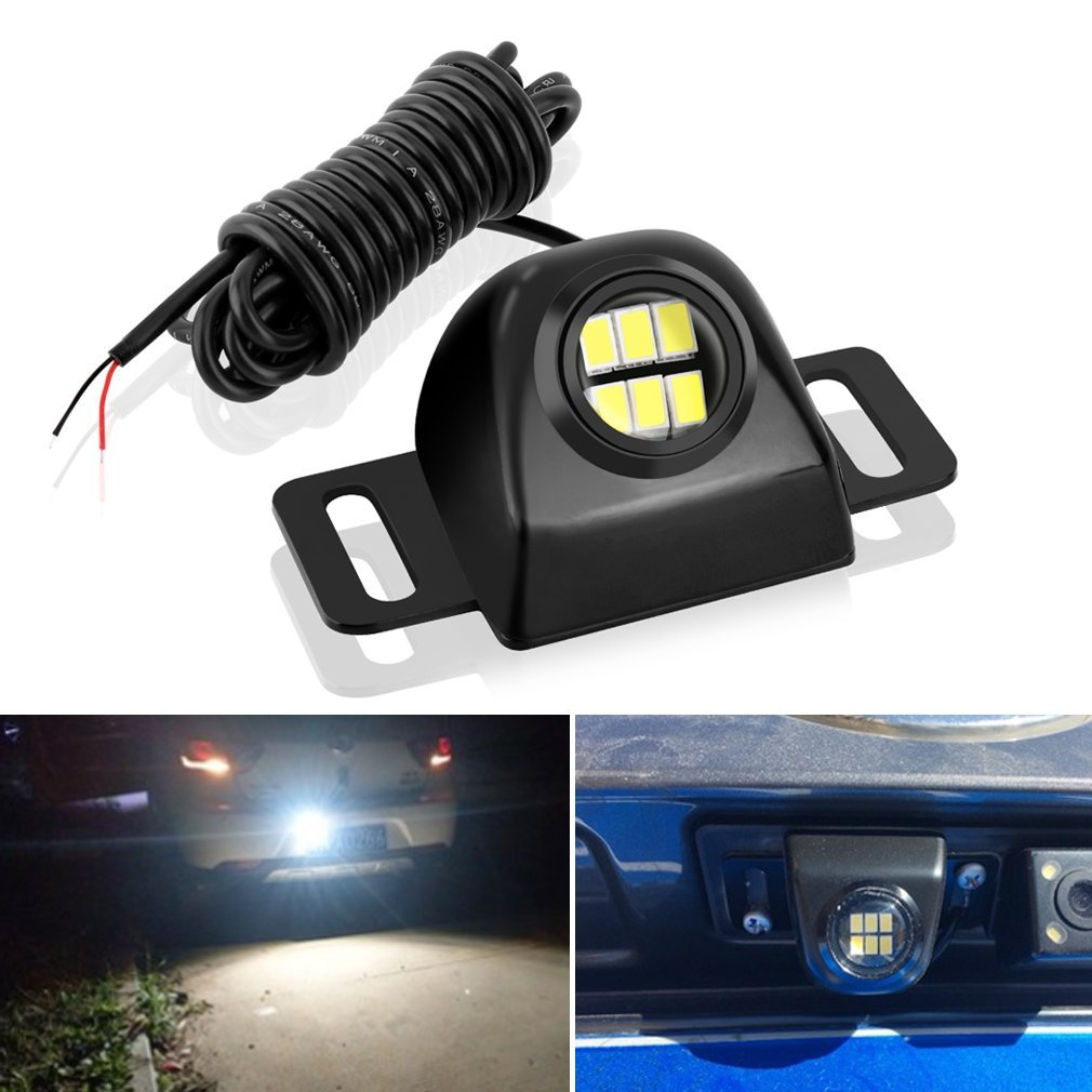 Backup camera Illumination for Truck Vehicle CAR Auxiliary Reverse Light Bulb,Mini Universal Super Bright Backup Parking LED Light Lamp Waterproof