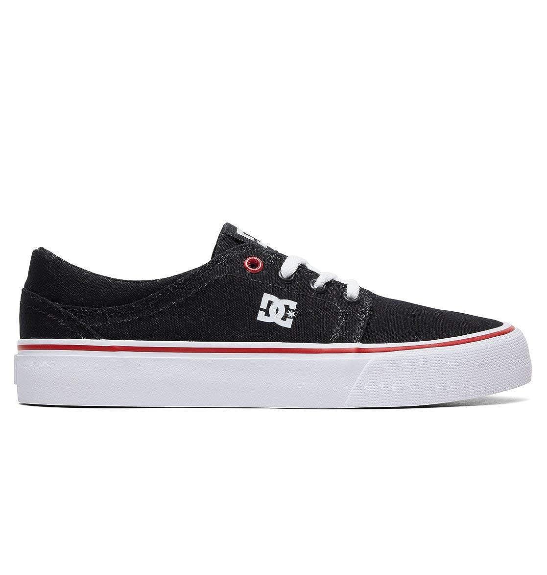 DC scarpe TONIK - Scarpe da Ginnastica Basse Uomo Nero Bianco Rosso | Di Prima Qualità  | Scolaro/Ragazze Scarpa