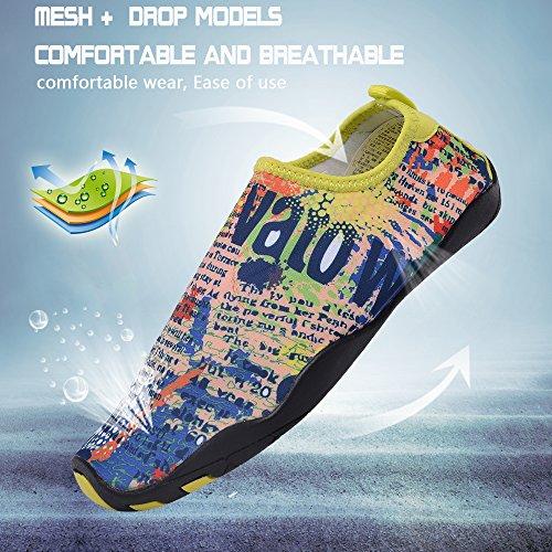 UNN Wasser Schuhe Multifunktionale Quick-Dry Barfuß Flexible Haut Aqua Socken für Beach Swim Surf Yoga Übung Gelb