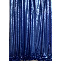 QueenDream 7ft x7ft shiny backdrop Photo Booth Backdrop Navy Sequin Fabric backdrops for photography Wedding Curtain