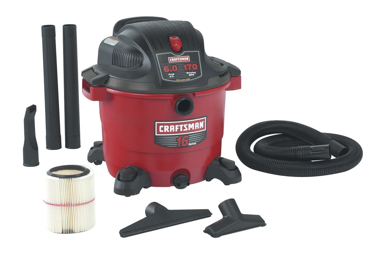 Craftsman 9-17761 16 Gallon Wet and Dry Vacuum with 6.0 Peak Horsepower - Shop  Wet Dry Vacuums - Amazon.com
