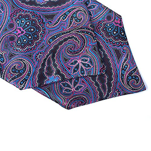 Lja Jacquard 09 YCHENG Jacquard Ascot Necktie Floral Purple Scarf Patterned Men's Paisley qxqvEnzr