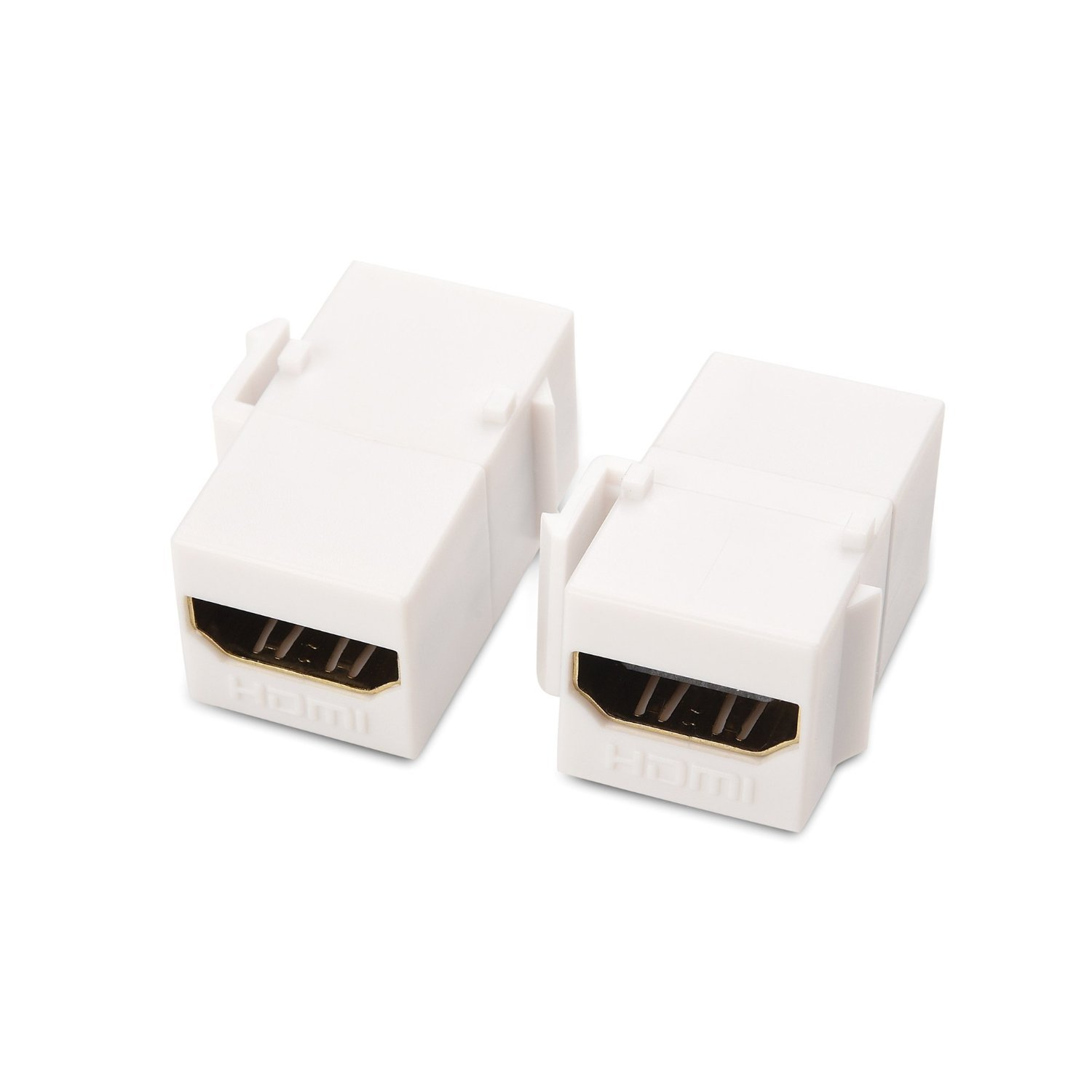 Cable Matters 5-Pack LC Duplex Multimode Fiber Keystone Jack in Ivory