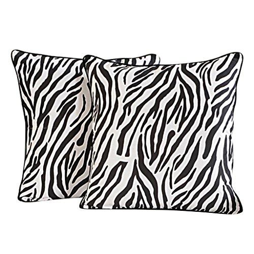 (Yuga Home Décor Zebra Print Cushion Cover 12 X 12 Inches Printed Decorative Pillowcase 2 Pcs)