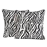 Yuga Home Décor Zebra Print Cushion Cover 24 X 24 Inches Printed Decorative Pillowcase 2 Pcs