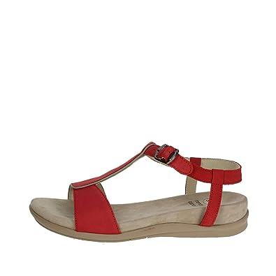 Scholl Chaussures pour Femmes Sandales NASHIRA en Cuir Rouge F26645 ... 72818c0ef76