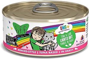 Weruva B.F.F. OMG - Best Feline Friend Oh My Gravy! Grain-Free Natural Wet Cat Food Cans, Tuna Recipes in Gravy