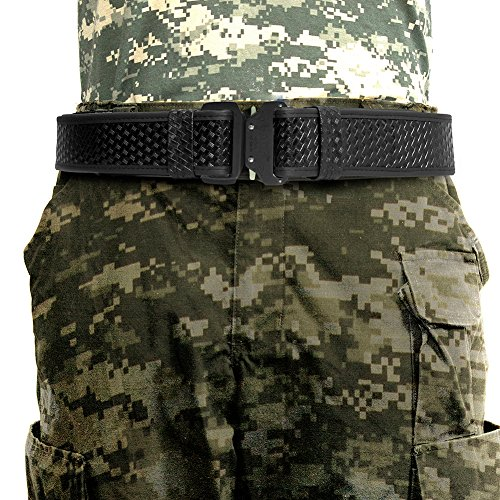 "Fusion Tactical Military Police Patrol Gürtel Generation II Basket Weave Schwarz X-Large 43-48""/ 2"" Wide / Binding"