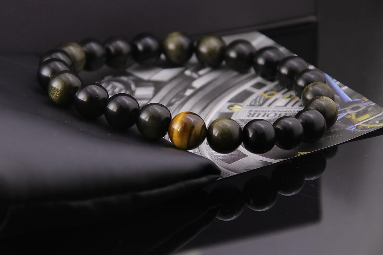 449426f4187 Haskare Healing Bracelet Mens Chakra Healing Stone Bracelet Tiger Eye  Terahertz Obsidian Beads Bracelets HK-